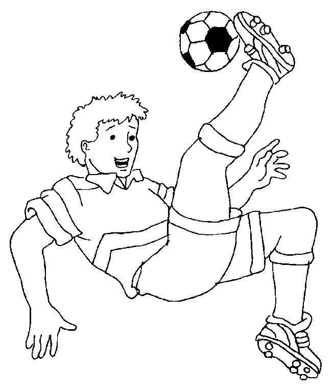 Coloriage et dessins gratuits Joueur de Foot à imprimer