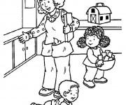 Coloriage La Mère travailleuse