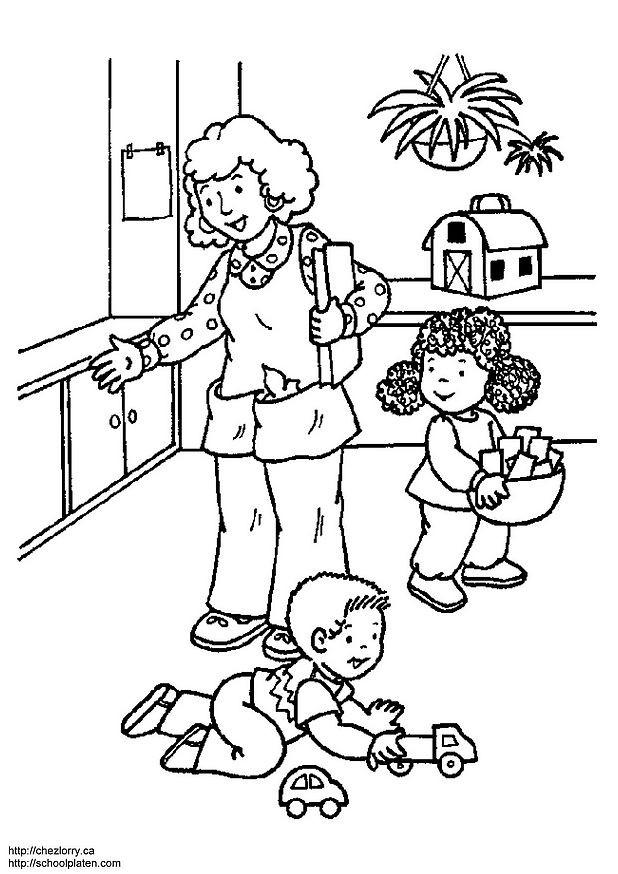 Coloriage et dessins gratuits La Mère travailleuse à imprimer