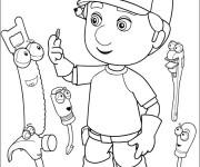 Coloriage Le Petit Menuisier dessin animé