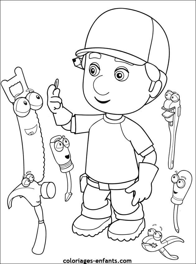 Coloriage et dessins gratuits Le Petit Menuisier dessin animé à imprimer