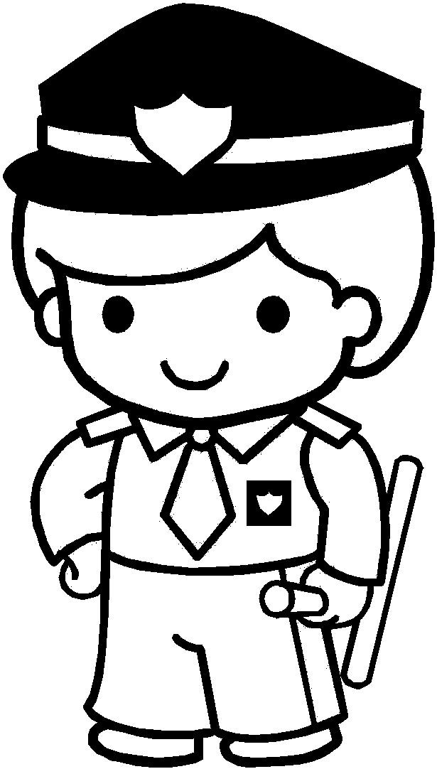 Coloriage et dessins gratuits Le Petit Policier à imprimer
