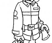 Coloriage et dessins gratuit Les Métiers Pompier à imprimer