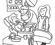 Coloriage et dessins gratuit Métier de Dentiste à imprimer