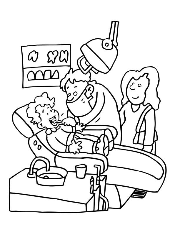 Coloriage et dessins gratuits Métier de Dentiste à imprimer