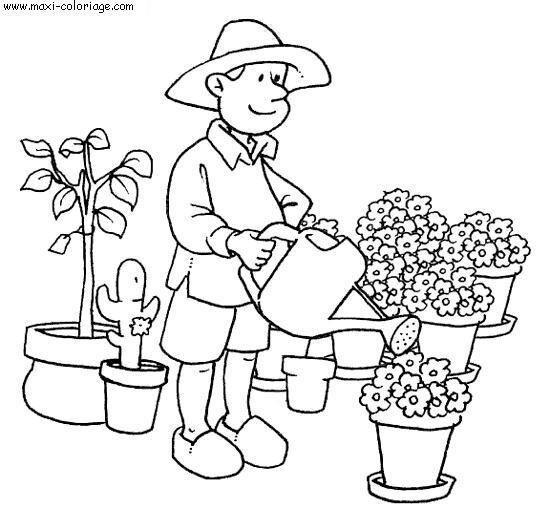 Coloriage et dessins gratuits Métier Fleuriste à imprimer
