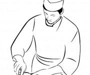 Coloriage Un Boucher au travail