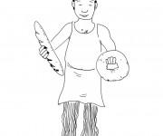 Coloriage Un boulanger
