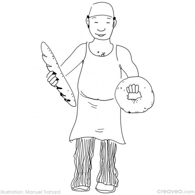 Coloriage un boulanger dessin gratuit imprimer - Coloriage boulangerie ...