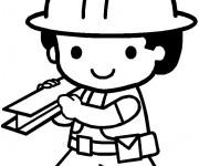 Coloriage Un Petit Ouvrier