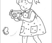 Coloriage Une Petite Fille Photographe