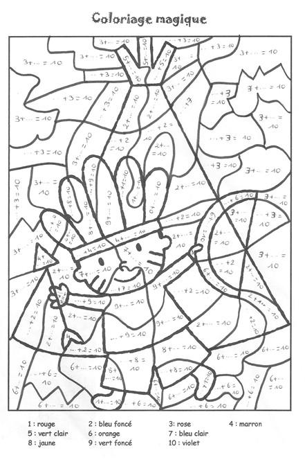 Coloriage et dessins gratuits Magique Addition à compléter à imprimer