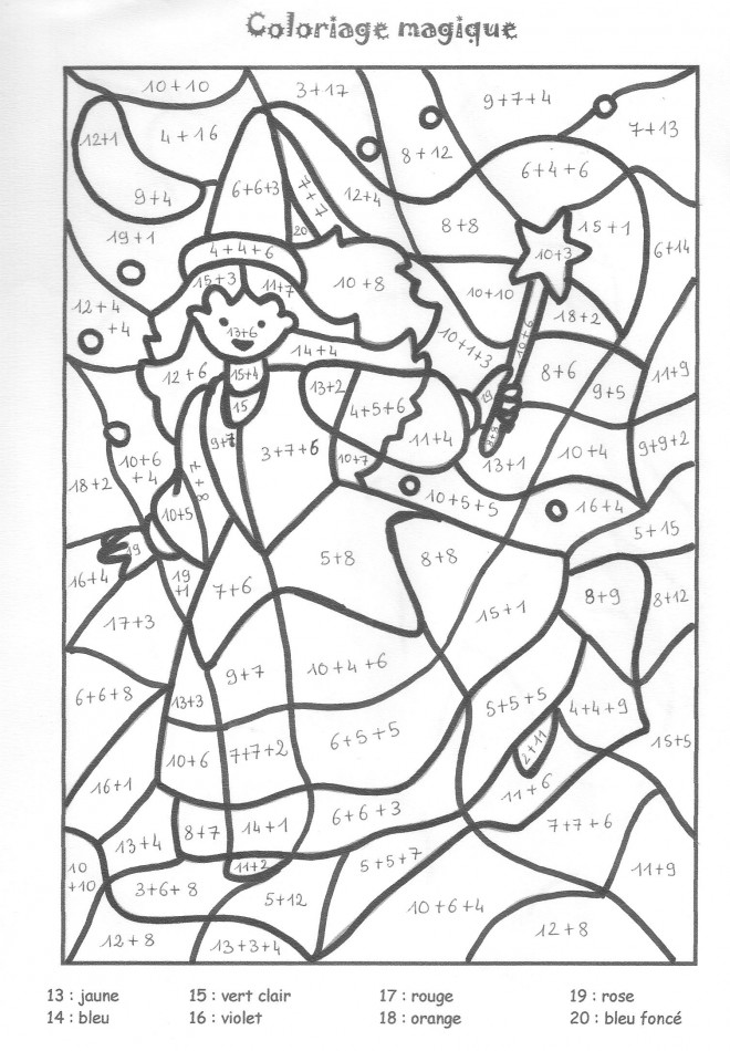 Coloriage et dessins gratuits Addition 14 à imprimer