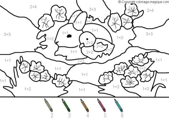 Coloriage et dessins gratuits Addition Le Lapin et l'oiseau à imprimer
