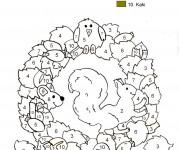 Coloriage et dessins gratuit Addition Les animaux magique à imprimer
