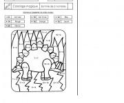Coloriage et dessins gratuit Addition magique dinosaure à imprimer