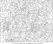 Coloriage Magique Addition difficile