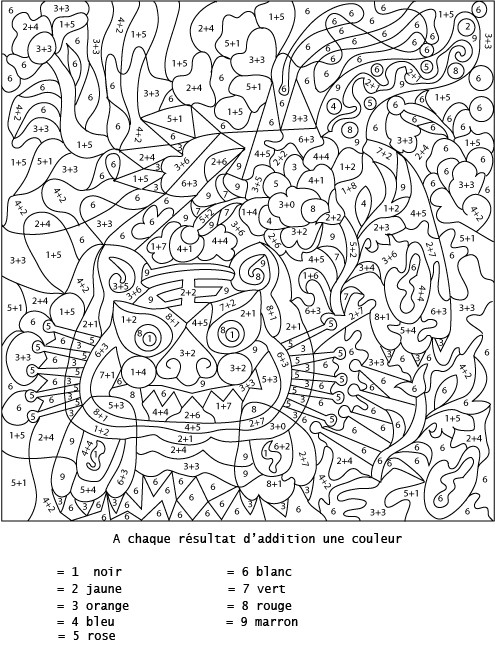 Coloriage Numerote Difficile.Coloriage Magique Addition Difficile Dessin Gratuit A Imprimer