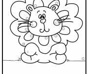 Coloriage Lion coquin