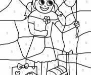 Coloriage et dessins gratuit Magique avec enfant à imprimer