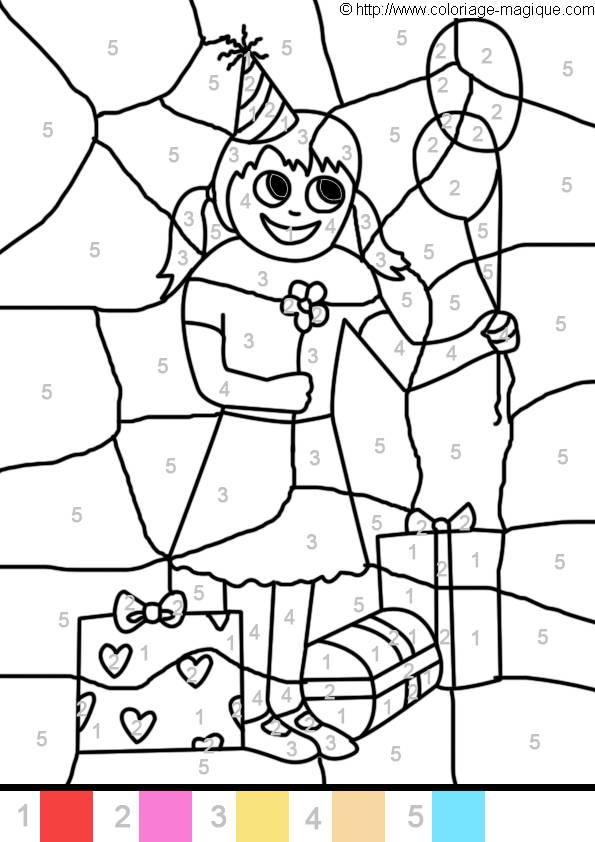 Coloriage et dessins gratuits Magique avec enfant à imprimer