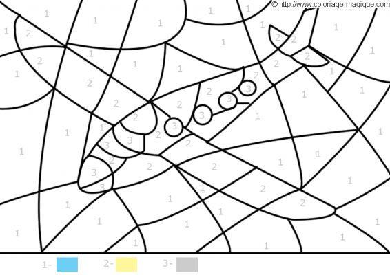 Coloriage et dessins gratuits Magique avion à imprimer