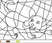 Coloriage et dessins gratuit Magique chien Facile à imprimer