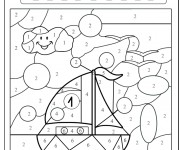 Coloriage dessin  Magique Facile 15