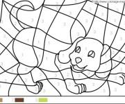 Coloriage dessin  Magique Facile 2