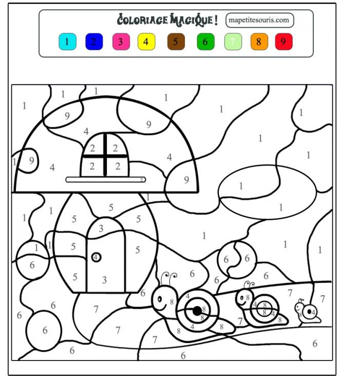 Coloriage Magique Facile 31 dessin gratuit à imprimer