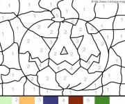 Coloriage et dessins gratuit Magique Facile citrouille à imprimer