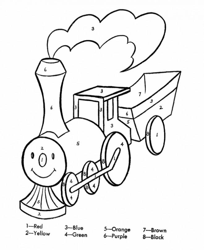 Coloriage et dessins gratuits Magique Facile Le Train à imprimer