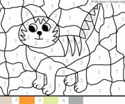 Coloriage magique facile un chat dessin gratuit imprimer - Un chat gratuit ...