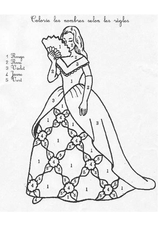 Coloriage et dessins gratuits Magique Princesse Facile à imprimer