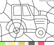 Coloriage et dessins gratuit Magique Tracteur Facile à imprimer