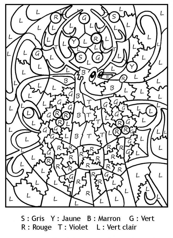 Coloriage Magique Lettres gratuit à imprimer liste 20 à 40