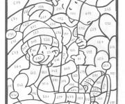 Coloriage dessin  Magique Lettres 18