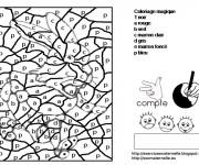 Coloriage et dessins gratuit Magique Lettres 19 à imprimer