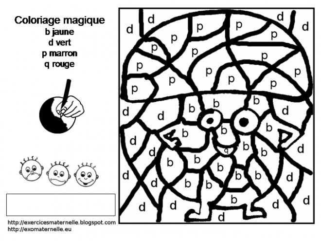 Coloriage et dessins gratuits Magique Lettres en couleur à imprimer