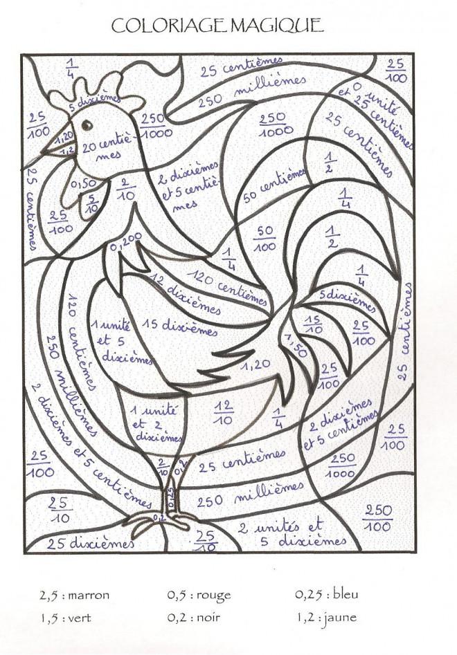 Coloriage et dessins gratuits Magique Lettres Le Coq à imprimer