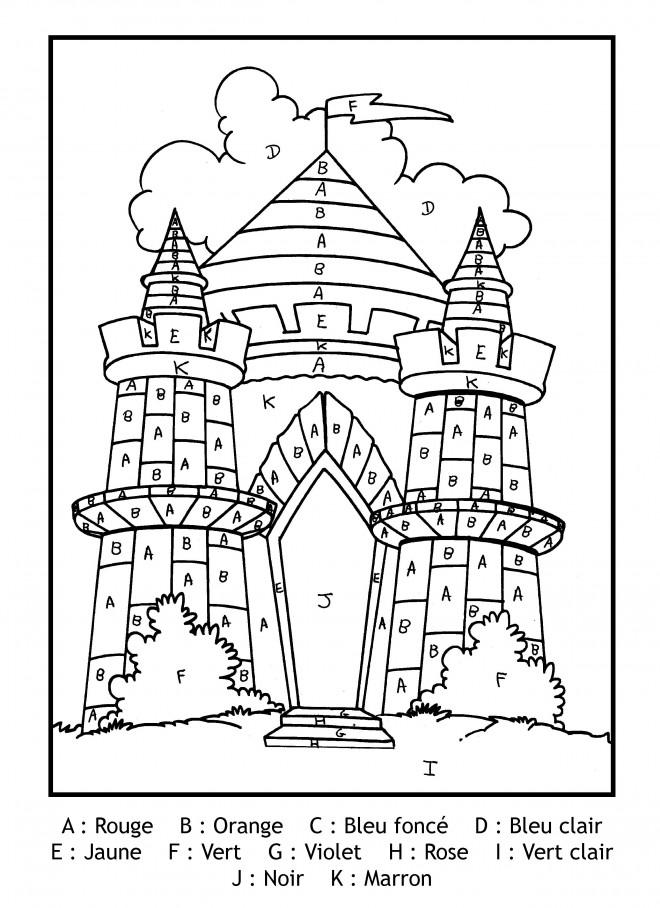 Coloriage et dessins gratuits Magique Lettres Le Palais à imprimer