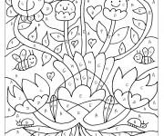 Coloriage Magique Lettres Les fleurs