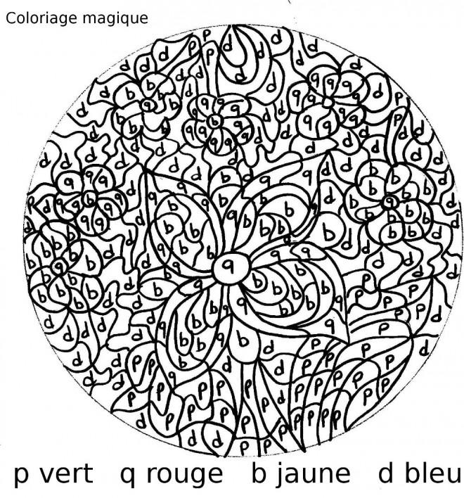 Coloriage et dessins gratuits Magique Lettres Retz à imprimer