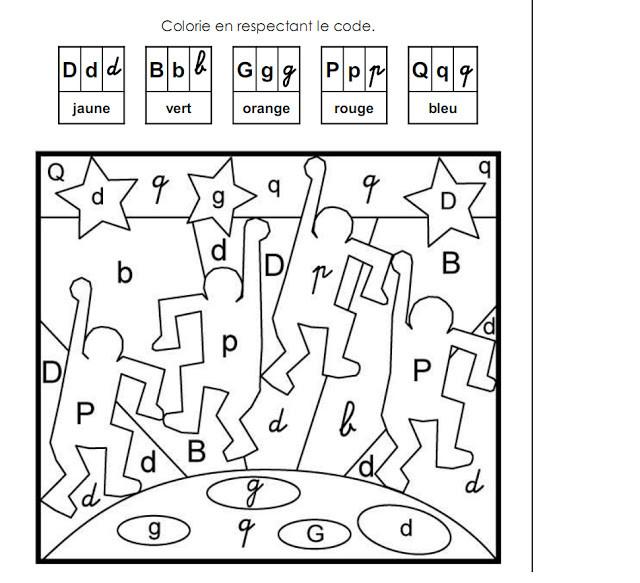 Coloriage et dessins gratuits Magique reconnaissance des Lettres à imprimer
