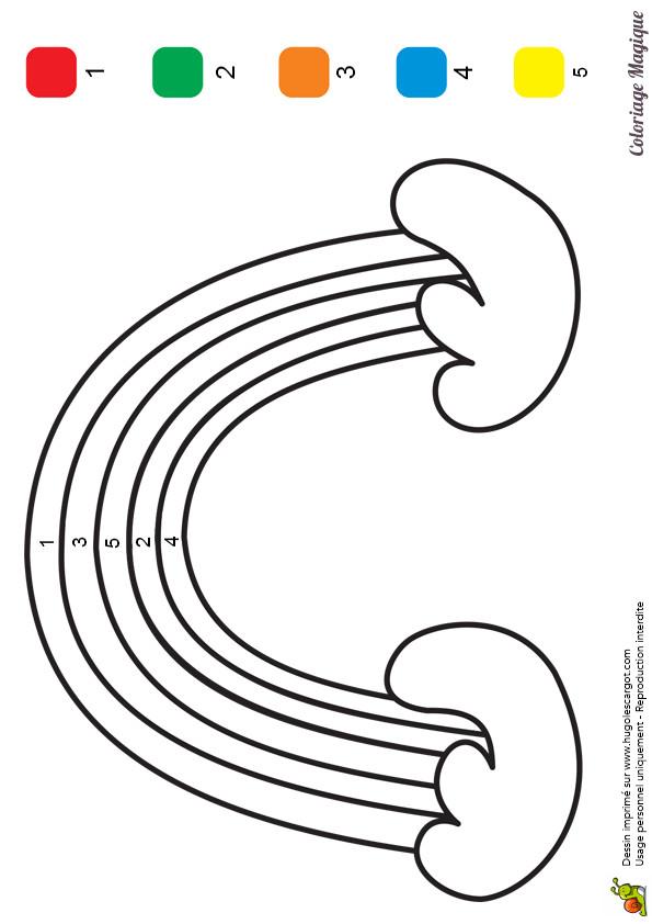Coloriage et dessins gratuits Magique arc en ciel Maternelle à imprimer