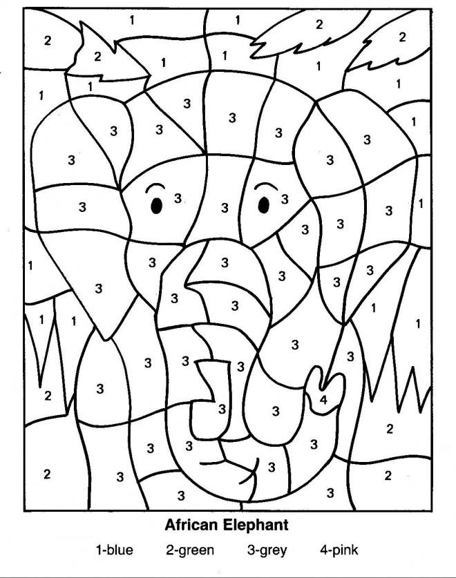 Coloriage Magique éléphant Maternelle