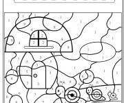 Coloriage dessin  Magique Facile 31