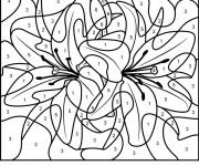 Coloriage Magique Fleurs en couleur