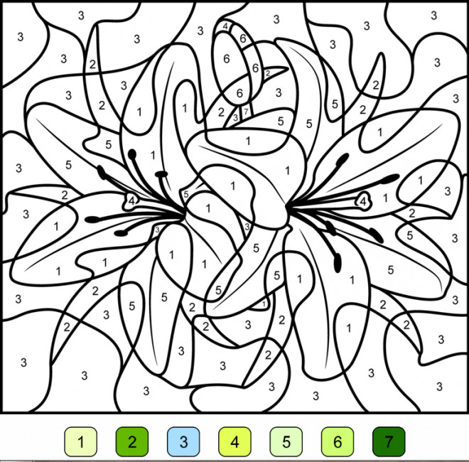 Coloriage Magique Fleur Maternelle.Coloriage Magique Fleurs En Couleur Dessin Gratuit A Imprimer