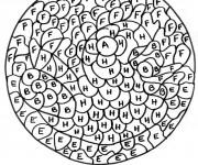 Coloriage dessin  Magique Lettres 21